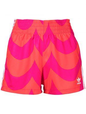 Шорты с карманами - розовые Adidas