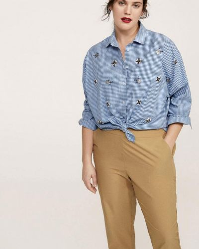 Голубая рубашка Violeta By Mango