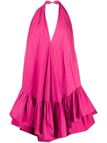 Розовое платье с открытой спиной на бретелях на молнии Ainea