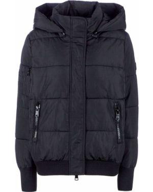 Куртка с капюшоном черная укороченная Armani Exchange