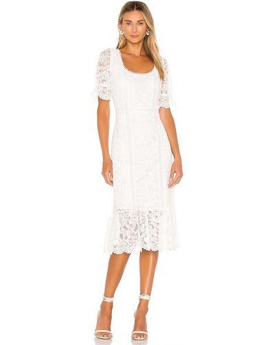 Хлопковое платье миди - белое Bb Dakota