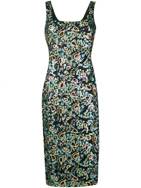 Прямое платье миди с вышивкой без рукавов с вырезом Alexa Chung