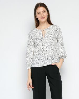 Шифоновая блузка с рукавом 3/4 свободного кроя с вырезом Fiato