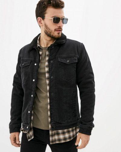 Черная демисезонная куртка Zolla