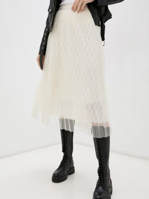 Бежевая юбка осенняя Softy