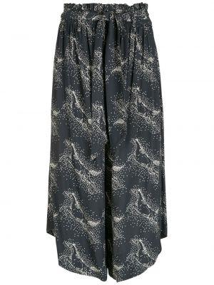 Синие брюки с поясом из вискозы НК