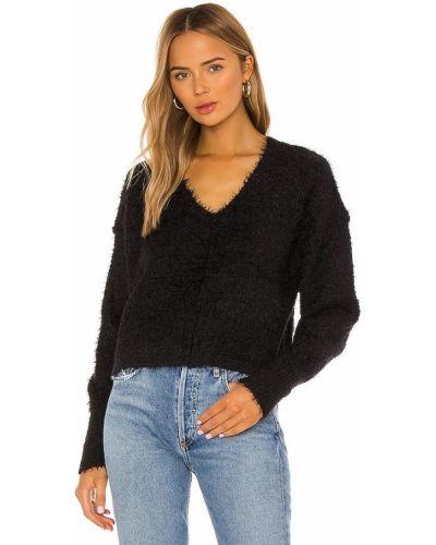 Czarny bezpłatne cięcie włókienniczy pulower Free People