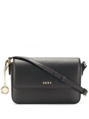 Кожаная сумка через плечо - черная Dkny