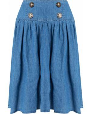 Голубая юбка хлопковая Finn Flare