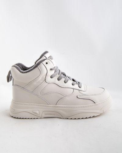Бежевые ботинки из кожзаменителя Prima D'arte
