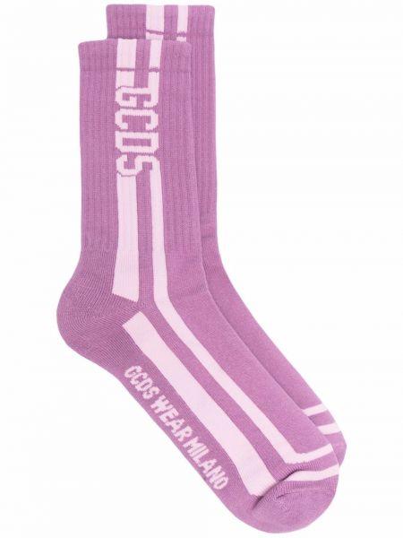 Фиолетовые носки из эластана Gcds