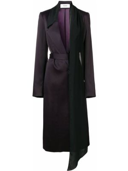 Розовое пальто с капюшоном из вискозы Chalayan