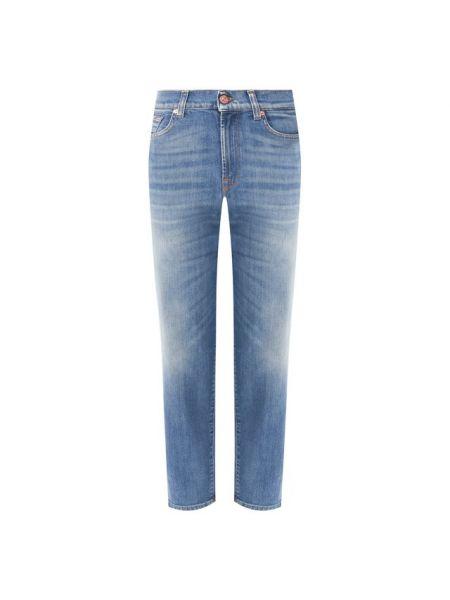 Прямые джинсы синие скромный 7 For All Mankind