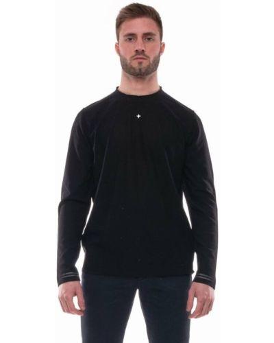T-shirt z haftem - czarna Stone Island
