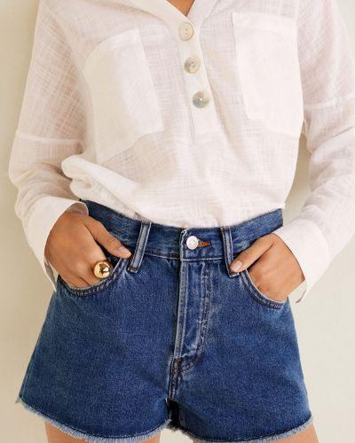 Джинсовые шорты с завышенной талией Mango