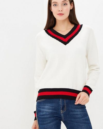 Пуловер белый Zeza