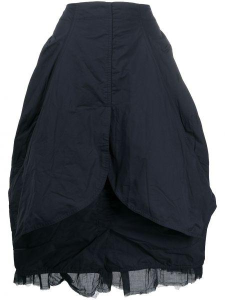 Синяя пышная юбка прозрачная Rundholz
