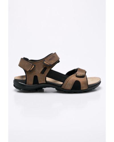 Коричневые сандалии кожаные Wojas