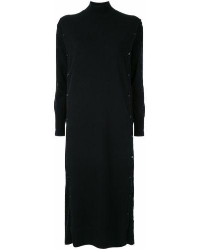 Черное прямое платье миди Le Ciel Bleu
