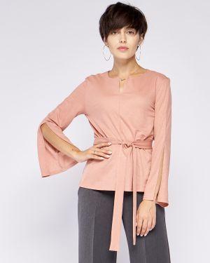 Блузка с длинным рукавом с поясом приталенная Fiato
