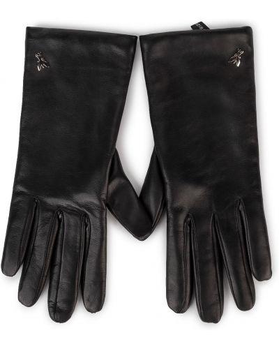Czarne rękawiczki Patrizia Pepe