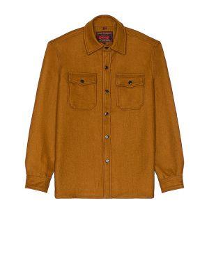 Шерстяная рубашка - коричневая Schott