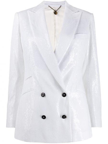 Белая свободная куртка с манжетами на пуговицах Maurizio Miri