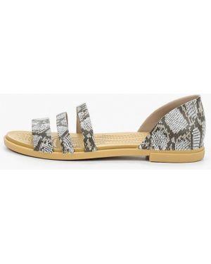 Спортивные сандалии серые Crocs