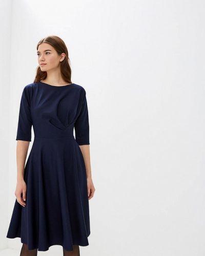 Платье осеннее синее Anastasia Kovall