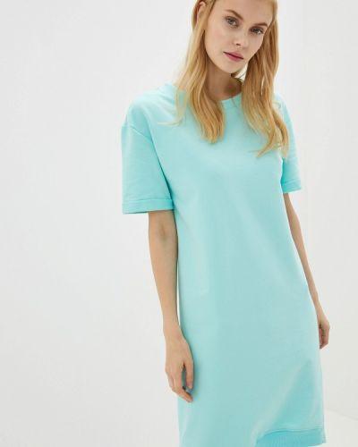 Платье бирюзовый футболка наше