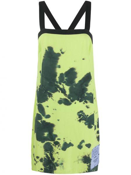 Желтое шелковое платье трапеция Mcq Alexander Mcqueen