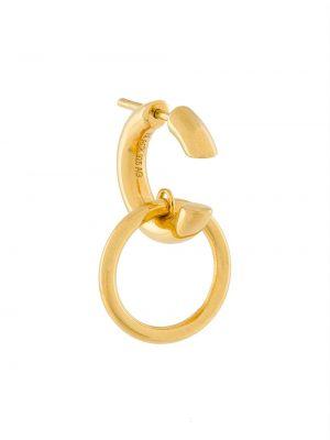 Czarne złote srebrne kolczyki Maria Black