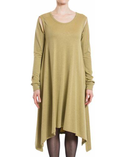 Платье из вискозы - зеленое Maison Margiela