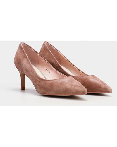 Лоферы на каблуке - розовые Braska