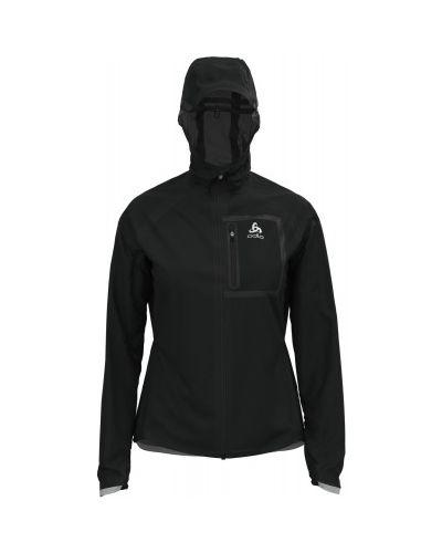 Приталенная черная куртка на молнии Odlo