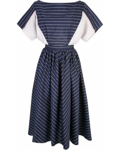 Расклешенное приталенное платье миди на пуговицах Tome