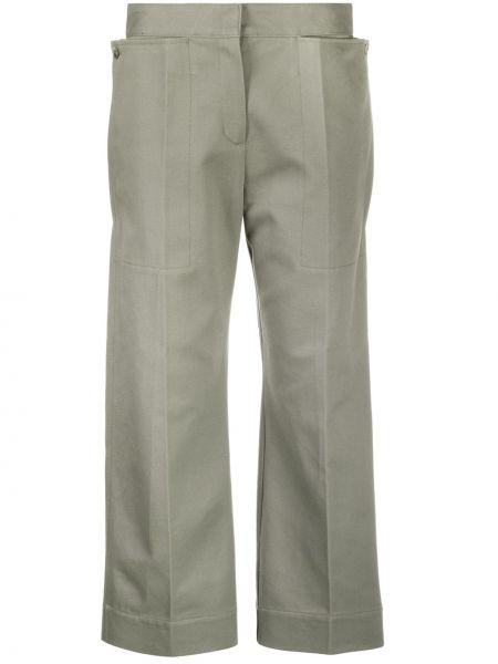 Bawełna spodni zielony przycięte spodnie z kieszeniami Jacquemus