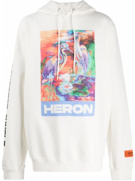 Bluza z kapturem z haftem sport Heron Preston