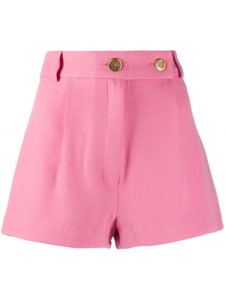 Шелковые розовые шорты с карманами Seen Users