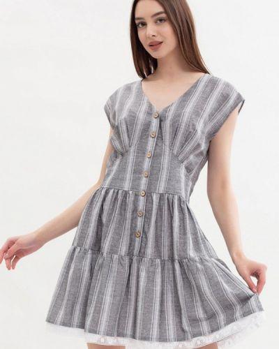 Серое повседневное платье Maxa