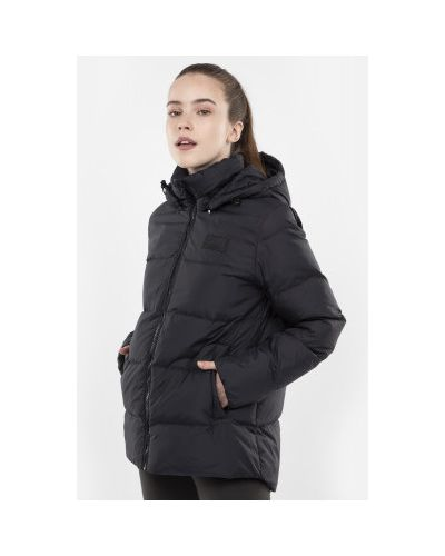Куртка с капюшоном черная спортивная Fila