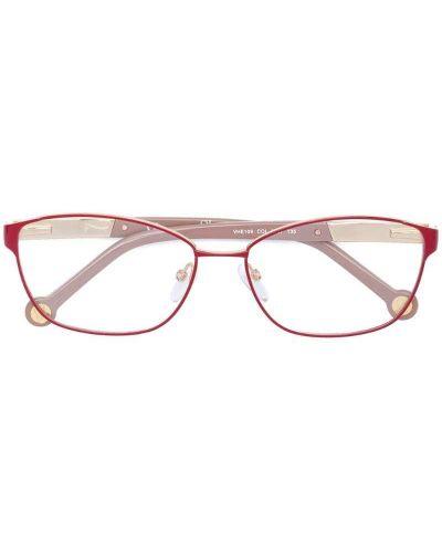 Красные очки прямоугольные Carolina Herrera
