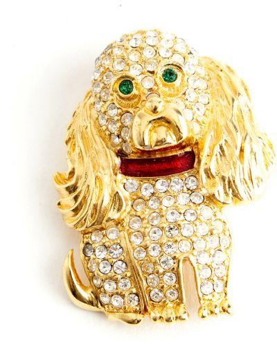 Żółta złota broszka Kenneth Jay Lane Vintage