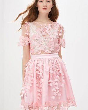 Вечернее платье розовое Mirasezar
