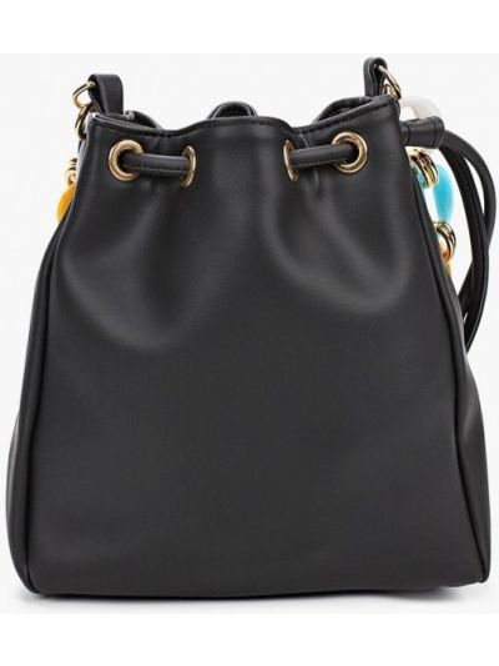 Кожаная сумка - черная Defacto