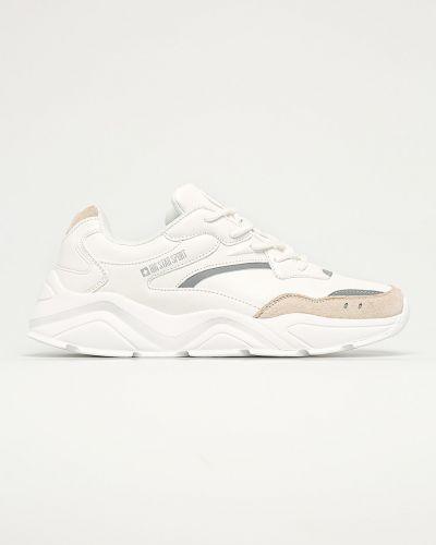 Ażurowe białe sneakersy sznurowane Big Star