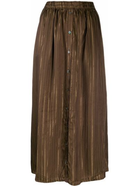 Коричневая юбка макси с поясом Elsa Esturgie