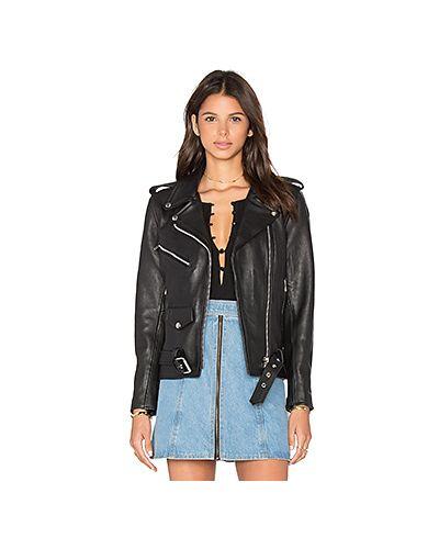 Кожаная куртка черная на молнии Understated Leather