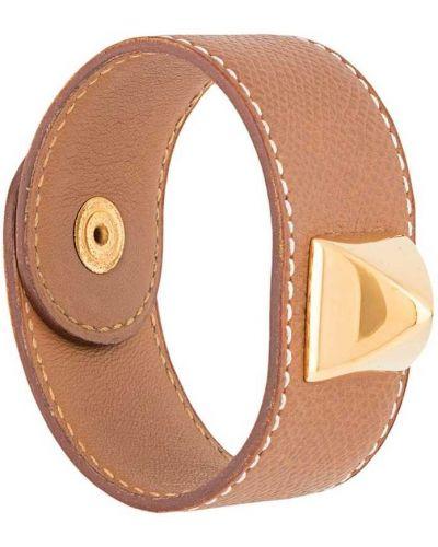 Brązowa złota bransoletka ze złota Hermes