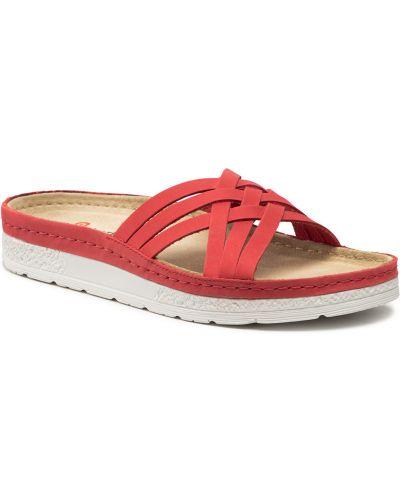 Czerwone sandały Berkemann